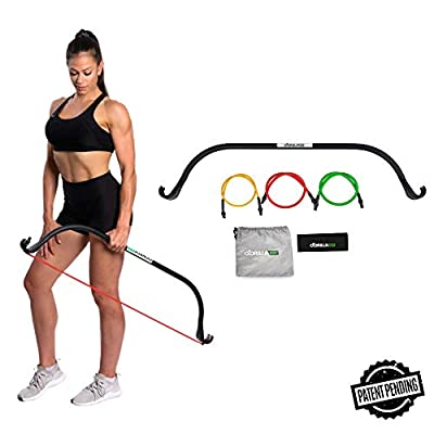 Gorilla Bow Lite, Portable Home Gym Resistance Band System, Weightlifting and HIIT Interval Training Kit, Full Body Workout Equipment (Lite Black)