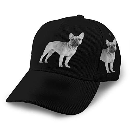 N //A French Bulldog 3D Printing Hat Dad Hat Trucker Hat Adjustable Baseball Cap Black