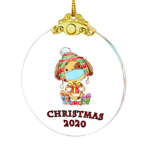 IFOLAINA 2020 Christmas Ornament Dog Quarantine Gift Tree Hanging Ornaments Present Friends Survive Novelty Souvenir Christmas Tree Pendant