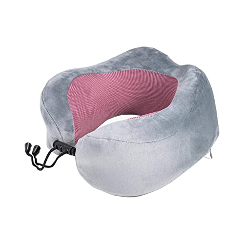 N\C Almohada de Viaje en Forma de U en el Coche, Almohada de Espuma viscoelástica para el Cuello, cómodas Almohadas cervicales, para Dormir, Plegable, para el Cuello del cojín de avión