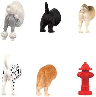 Kikkerland Dog Butts Animal Magnets, Set of 6 (MG17)