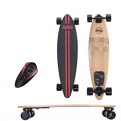 SCOOTER Longboard Elektro-Skateboard, Elektronische Longboard 350W * 2 Dual Drive Fernbedienung Skateboard mit 3.5A große Kapazitäts-Lithium-Batterie, Lasting 20 km, Kinder