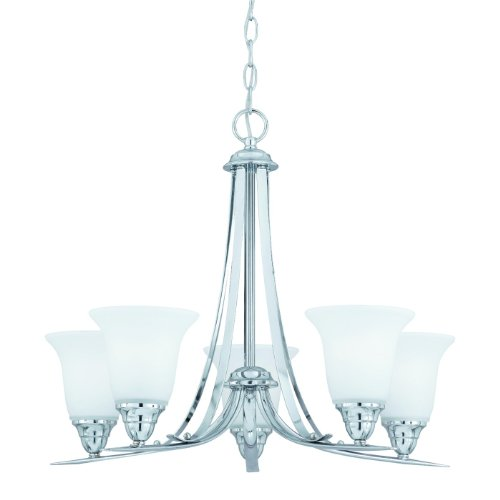 Triarch 33253 5 Light Value Chandelier, Chrome