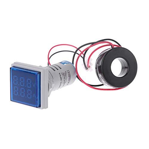Quadrato LED Digitale Doppio Display voltmetro e Amperometro Tensione Calibro misuratore di Corrente AC 60–500V 0–100A