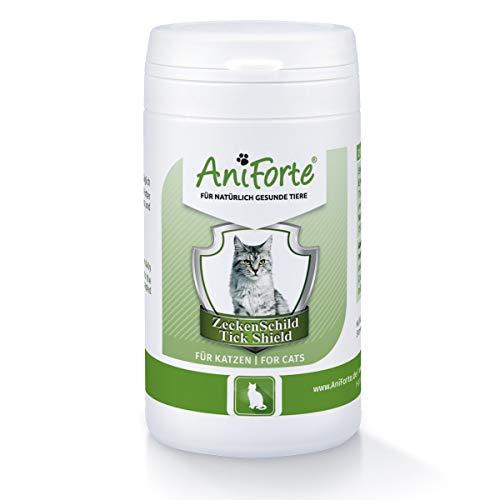 AniForte Zeckenschutz Katze 60 Kapseln - Natürliches Zeckenmittel für Katzen, Zeckenschild, Tabletten gegen Zecken, Vorbeugung Zeckenbiss, Zeckentabletten zur Zeckenabwehr, Anti Zecken Katze