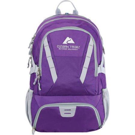 Ozark Trail 35L Choteau Daypack Backpack purple/grey