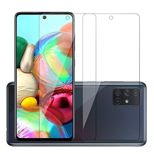POPIO Screen Protector Tempered Glass Compatible for Samsung Galaxy M51 / A71 / Samsung Galaxy Note10 Lite (Transparent) Full Screen Coverage (except edges), Pack of 2