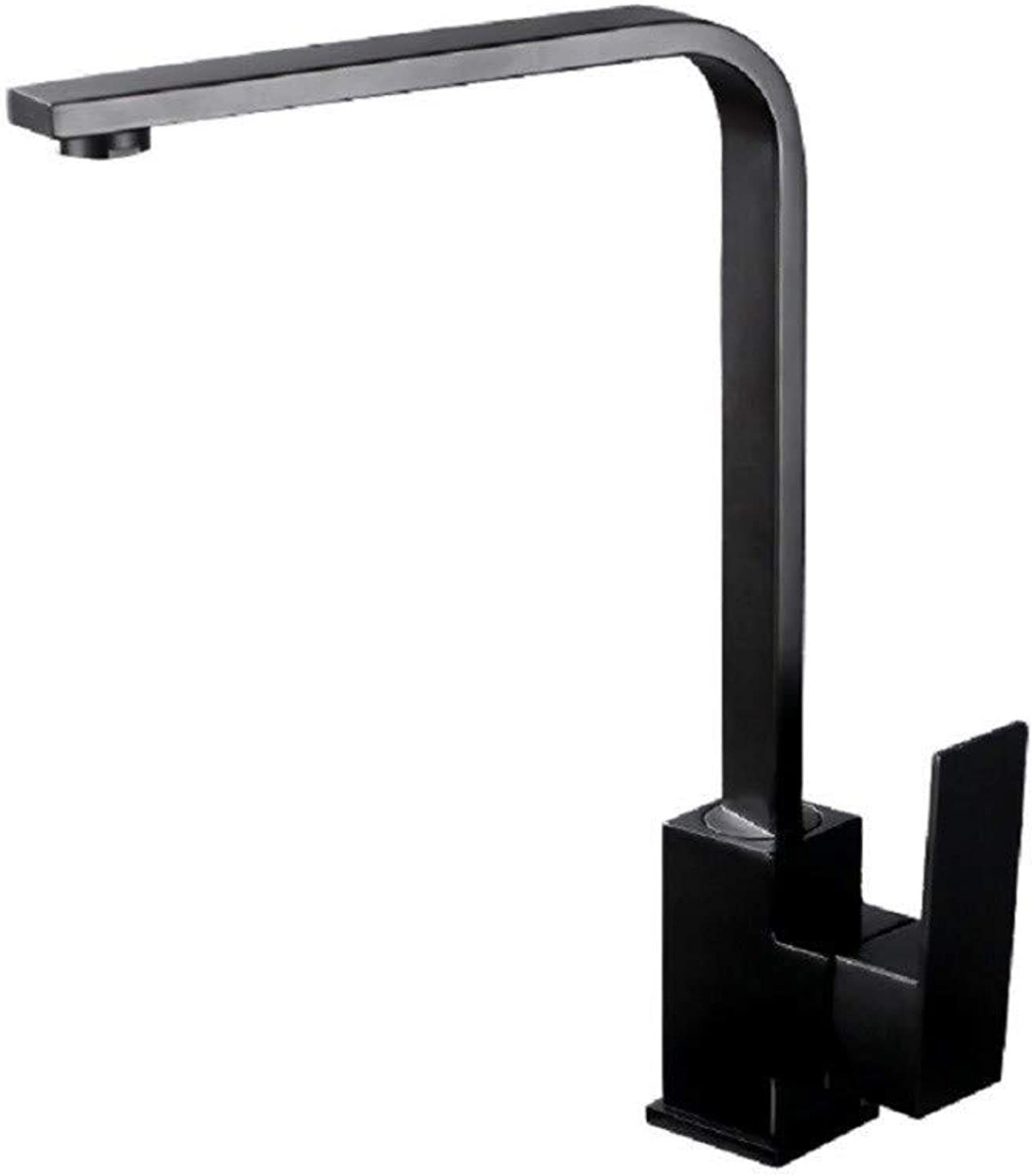 Brass Chrome Kitchen Tap Black Paint Washbasin Cold and Hot Balcony Faucet Kitchen Taps Kitchen Sink Mixer Taps