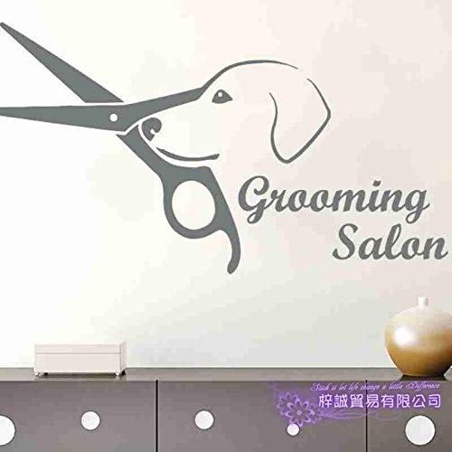 Cane Grooming Salon Pet Shop Sticker Decal Poster Vinyl Wall Art Decalcomanie Decorazione murale Pet Shop Sticker 45 * 84CM