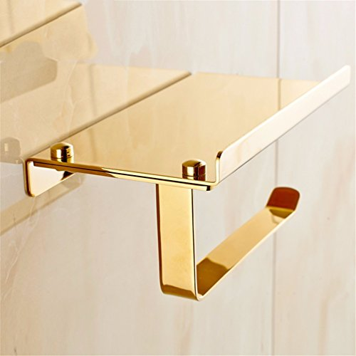 Set Di Accessori Da Bagno/set accessori da bagno/Continental Cu tutti piazza d'oro bagno Kit Acc fare clic su doppia pole carta igienica wc rack porta spazzola,portafazzoletti