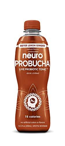 Neuro PROBUCHA Meyer Lemon Ginger, 14.5 oz Bottles (Pack of 12)