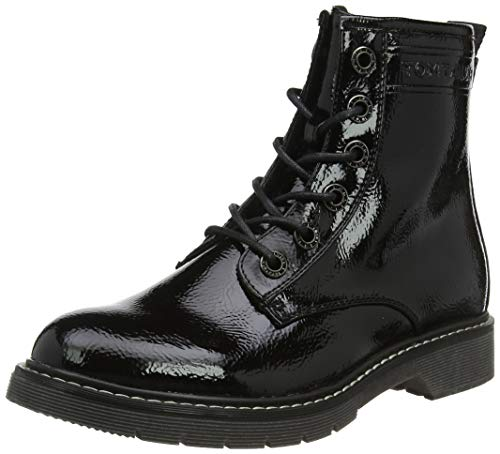 TOM TAILOR Damen 7992801 Stiefeletten, Schwarz (Black 00001), 38 EU