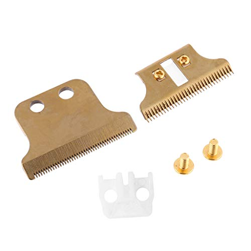 niumanery 8081 Replacement Blade Hair Clipper Blade Cutter Head for Electric Trimmer Gold