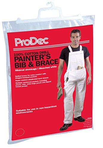 PRODEC Herren Maler-Overall 100% Baumwolle, Weiß