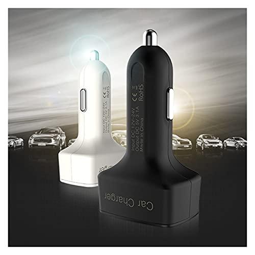 LIULIANG MeiKeL Cargador de coche dual DC5V 3.1A USB con voltaje/temperatura/medidor de corriente, adaptador de probador digital (nombre de color: funda blanca azul LCD)