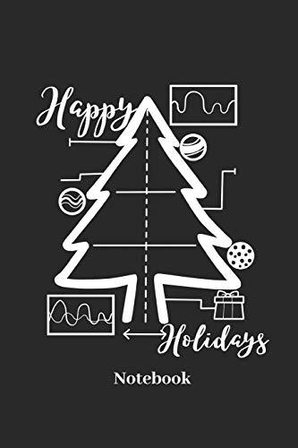Happy Holidays Notebook: Liniertes Notizbuch für Weihnachten, Santa Claus und Weihnachtsbaum Fans - Notizheft Klatte für Männer, Frauen und Kinder