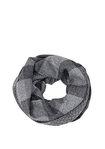 s.Oliver Herren 97.811.91.3663 Schal, Grau (Grey/Black Check 97n1), One Size (Herstellergröße: 1)