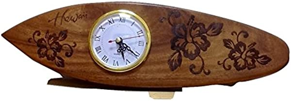 Koa Wooden Clock Hand Carved