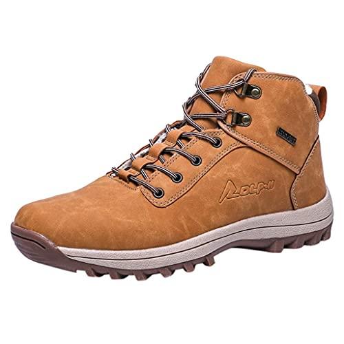 HUADUO Zapatillas de Deporte de caña Alta para Exteriores- Botas de Nieve para Hombre Impermeables Senderismo al Aire Libre Zapatos para mochileros Zapatillas de Tobillo