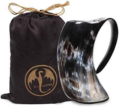 Viking Horn Mug 100 Authentic 16oz Ultimate Handmade OX Horn Norse Mug for Hot Cold Drinks with product image