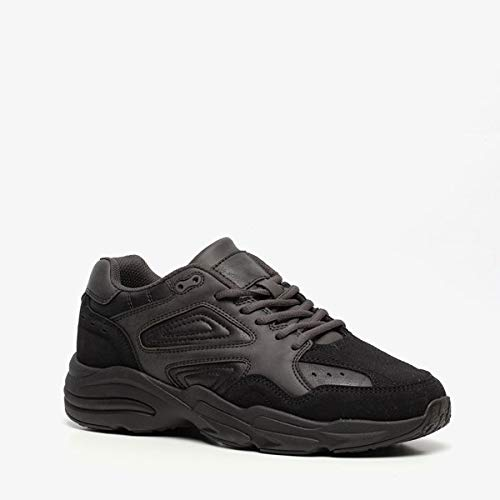 Blue Box heren dad sneakers - Zwart