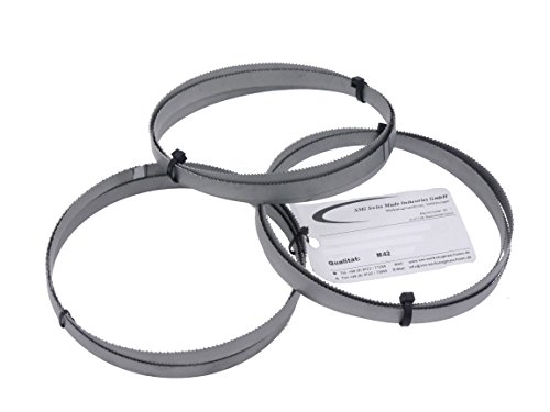 Juego de 3 cintas de sierra bimetal M 42, dimensiones 1638 x 13 x 0,65 mm, 10/14 ZpZ, por ejemplo, para Optimum, Epple, Holzmann, Bernardo