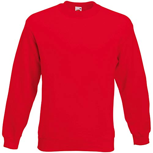 Fruit of the Loom Herren 62-202-0 Sweatshirt, rot, XL