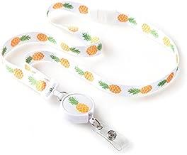 Pineapple Ribbon Lanyard with ID Badge Reel