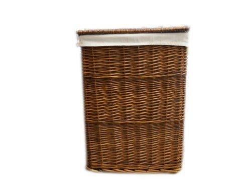 Brand New Rectangular Brown Wicker Linen Laundry Storage Basket/Bin Clothes Large