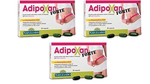 NATURANDO - ADIPOXAN FORTE 3 CONFEZIONI DA 30 CAPSULE equilibrio del peso corporeo, perdita di peso