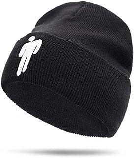 قبعة شتوية صغيرة محاكة من بيلي ايليش، قبعة متينة هيب هوب سكاليز، تصلح كهدية تنكرية، قبعة شتوية للتدفئة، قبعة، هيب هوب كاب