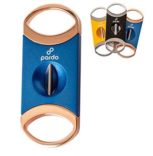 Pardo V Cutter, Metal V-Cut Cutter with Gift Box (Blue and Gold)
