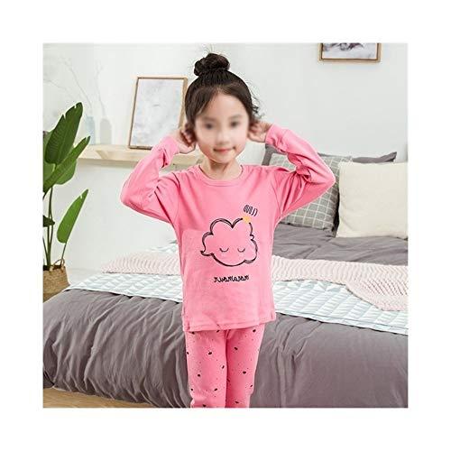 FELICIOO Herbst-Winter-Baby-Pyjamas Sets Boy Pyjamas Kinder Homewear Cotton Nachtwäsche Indoor Pijamas Anzug (Farbe : E, Size : 3T)