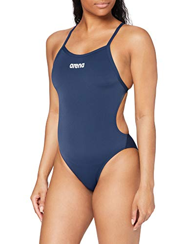 arena W Solid Light Tech High One Piece Femme, Bleu (Navy-white), Taille Fabricant : 36