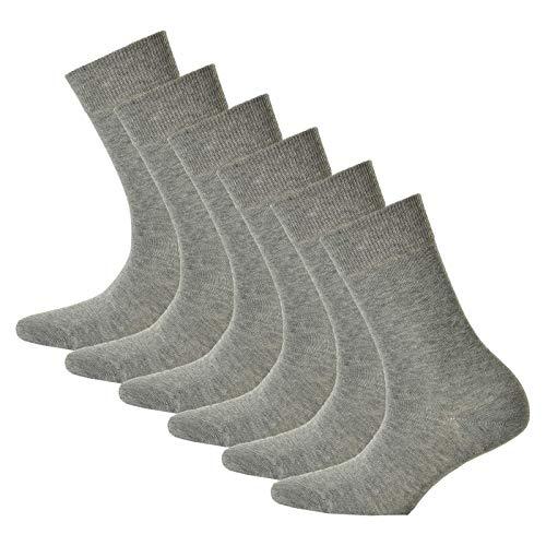 Preisvergleich Produktbild Hudson 6 Paar Damen Socken - Only,  Strumpf,  Komfortbund,  Einfarbig (3x 2-Pack) (Silber (0502),  35-38 (6 Paar))