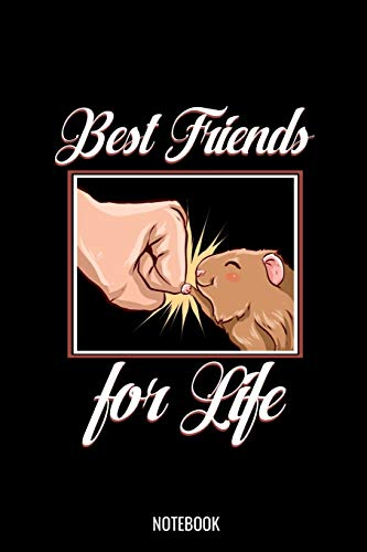 Best Friends For Life Notebook: Liniertes Notizbuch A5 -Meerschweinchen Bester Freund Notizheft I Süß Haustier Liebhaber Geschenk