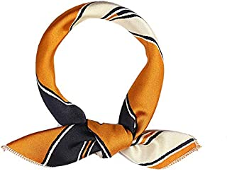 1 Piece Fashion Stripe Women's Silk Small Scarf Ladylike Square Scarf Accessory