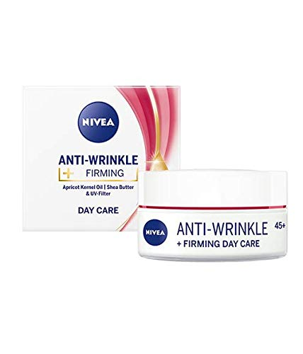 Nivea Anti-wrinkle + firming day cream 45+ with Apricot Kernel Oil, Shea Buttera and UV-filters 50ml / 1.69 oz