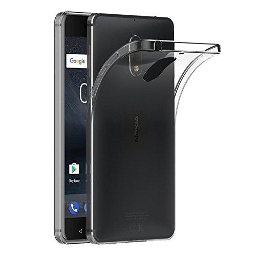 Preisvergleich Produktbild Conie LC25571 Liquid Crystal Kompatibel mit Nokia 6,  Transparent Silikon Schutzhülle Bumper Case HD Clear rutschfest Cover für Nokia 6 Handyhülle Durchsichtig