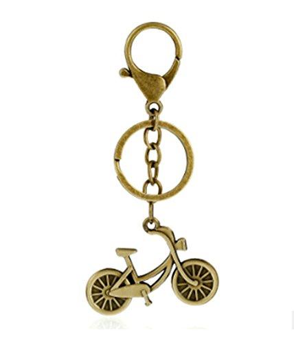 Bishilin Schlüsselanhänger Metalllegierung Fahrrad Handtaschenanhänger Braun Schlüsselanhänger