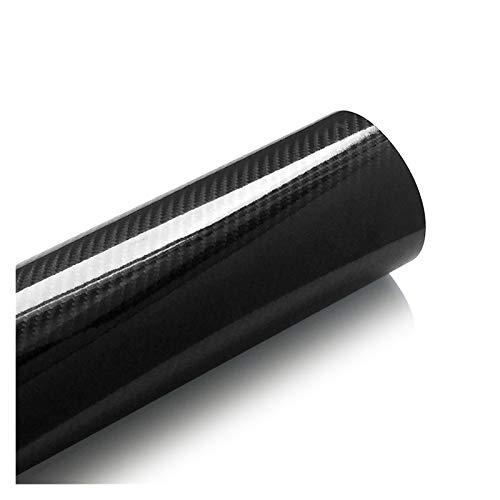 Vinilo Coche Tablet 5D fibra de carbono de envolver la película del vinilo de la motocicleta etiquetas adhesivas y etiquetas Accesorios for automóviles Car Styling 2 (Color Name : Black)