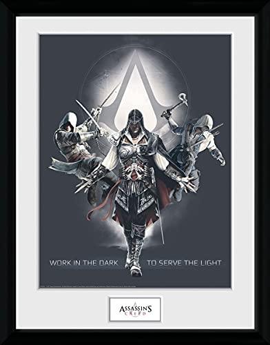 Assassin's Creed Work In The Dark Unisex Imagen Emmarcada Multicolor, Plastico, 30 x 40 cm