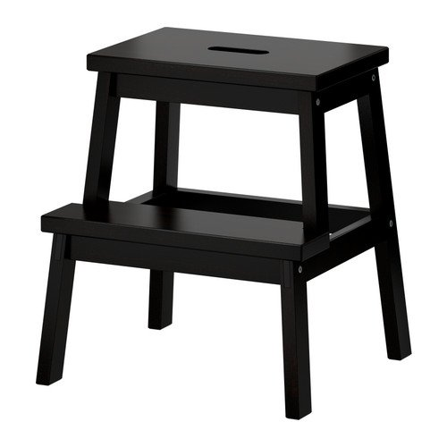 IKEA BEKVÄM trapladder, zwart, 50 cm