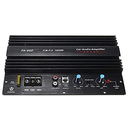 ZOZOSEP Subwoofers de bajo Amplificador Amplificador Amplificador de Potencia de Audio para automóvil Mono PA80D