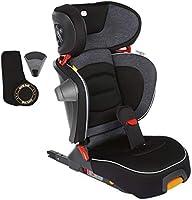 Chicco Fold&Go i-Size - Silla de coche isofix, 100-150 cm niño (de 3 a 12 años aprox), plegable y compacta, color negro...