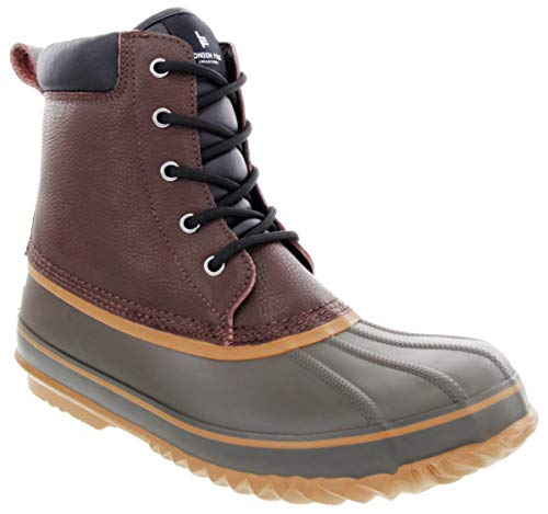 LONDON FOG Mens Ashford Waterproof and Insulated Duck Boot Dark Brown 10 M US