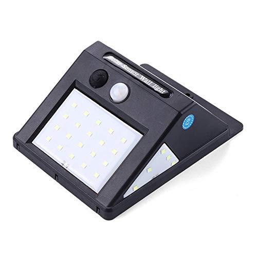 30 Luces LED solares, lámpara de Pared de inducción de Cuerpo Humano por Infrarrojos, Panel Solar de Alta eficiencia, Impermeable, para Patio de cercas de jardín