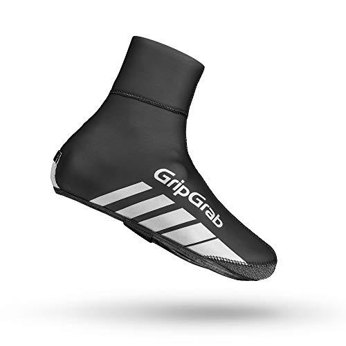 GripGrab Unisex– Erwachsene RaceThermo Winter Rennrad Neopren Überschuhe Warme Wasserdichte Winddichte Radsport Überzieher Shoe Cover Fahrrad, Schwarz, (44/45)