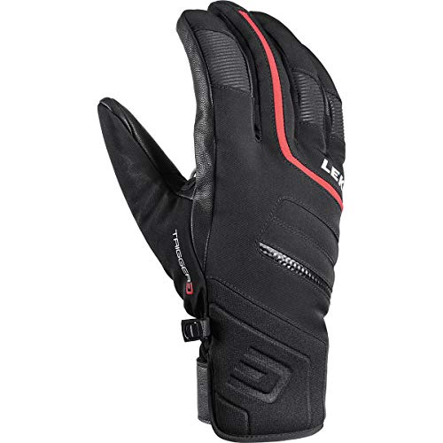 LEKI Falcon 3D Handschuhe, schwarz-rot, EU 9
