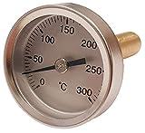 TERMOMED Termómetro para Puerta de hornos de leña, Escala de 0 a 300ºC con Vaina de 5 cm.
